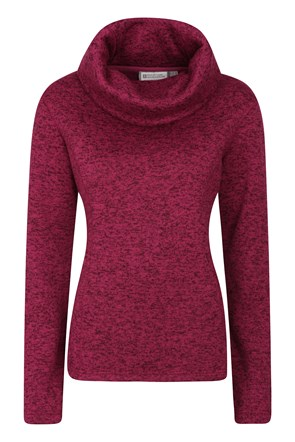 Idris Womens Cowl Neck Fleece