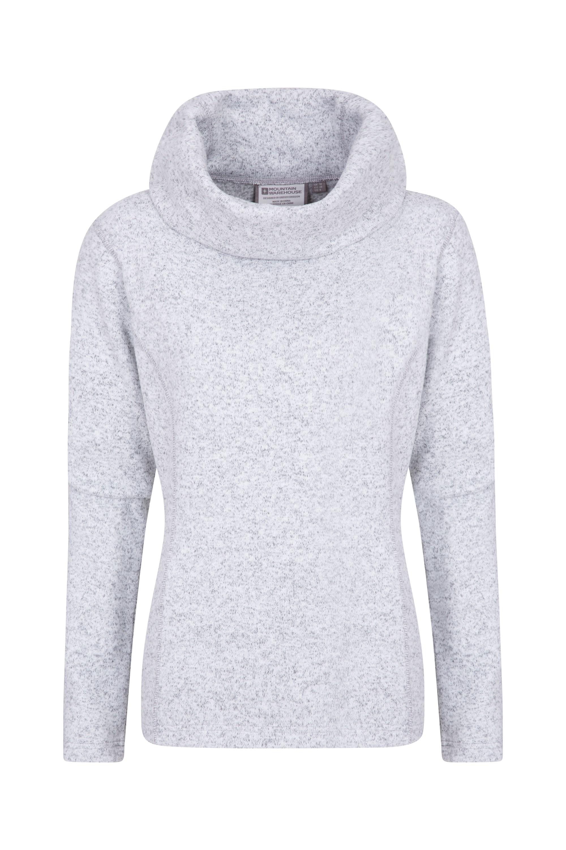 Idris Womens Cowl Neck Fleece - Grey