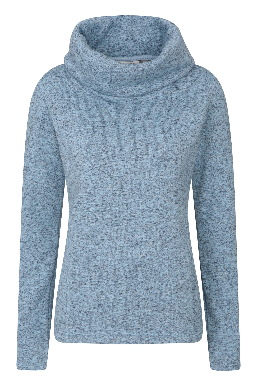 Mountain Warehouse Idris Womens Cowl Neck Fleece Blue