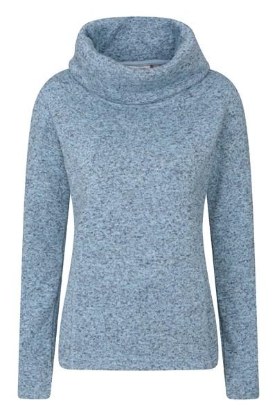Idris Womens Cowl Neck Fleece - Blue