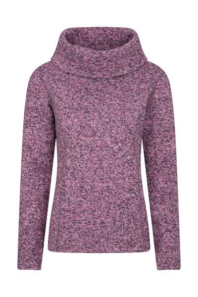 Idris Womens Cowl Neck Fleece - Pink