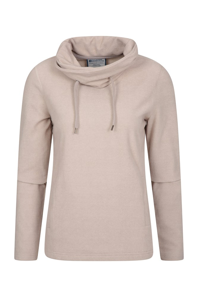 Hebridean Womens Cowl Neck Fleece - Beige