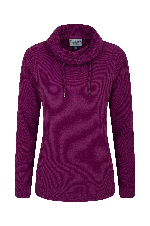 Hebridean Womens Cowl Neck Fleece - Pink