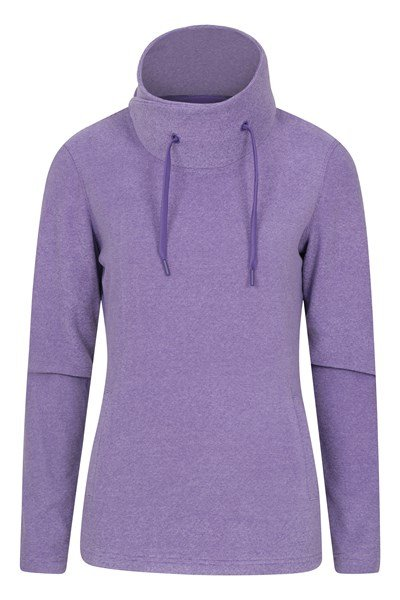 Hebridean Womens Cowl Neck Fleece - Purple