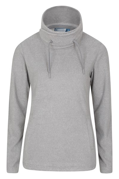 Hebridean Womens Cowl Neck Fleece - Grey