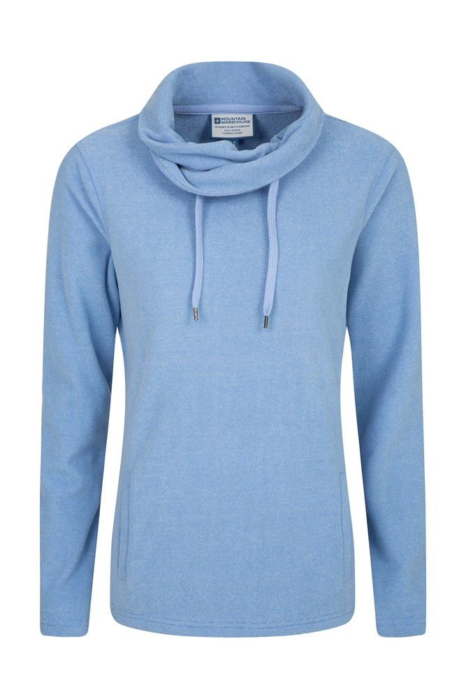 Hebridean Womens Cowl Neck Fleece - Blue