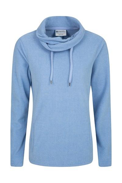 Hebridean Womens Cowl Neck Fleece - Blue