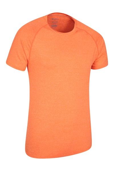 Agra IsoCool Mens Striped Tee - Orange