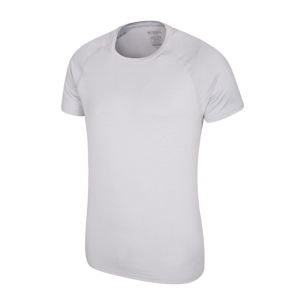Mountain Warehouse Mens IsoCool Agra Striped Tee w// Highly Breathable Fabric