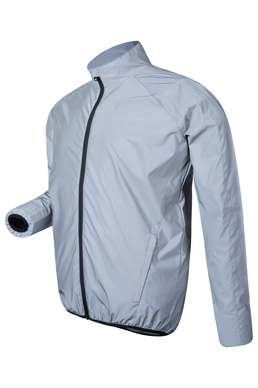 Mountain Warehouse Mens Waterproof Lightweight 360 Reflective Jacket