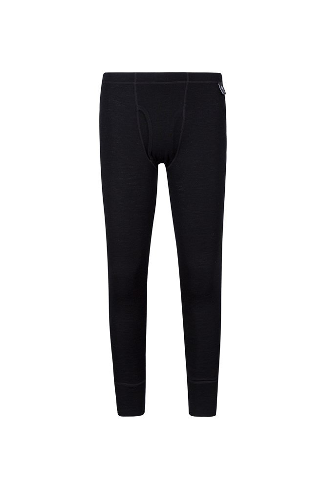Mens Merino Pants With Fly - Black
