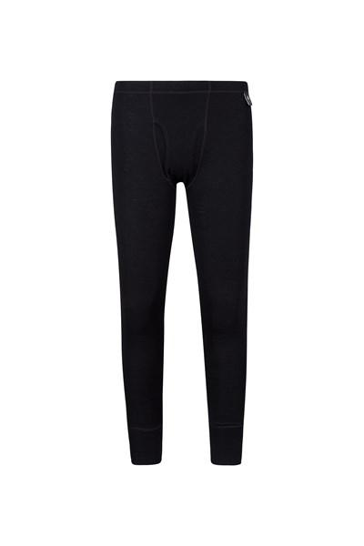 Mens Merino Pants With Fly - Black