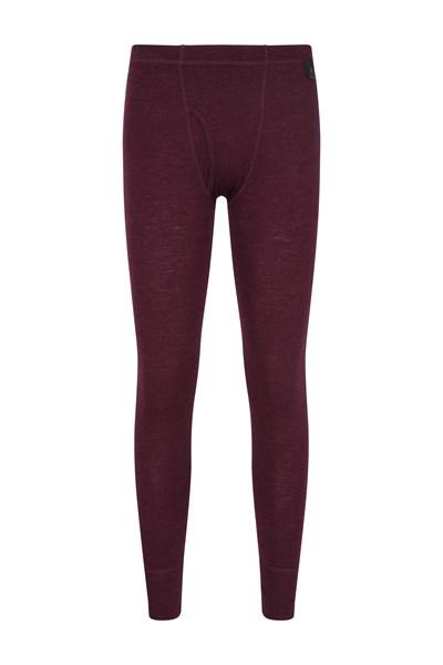 Mens Merino Pants With Fly - Burgundy