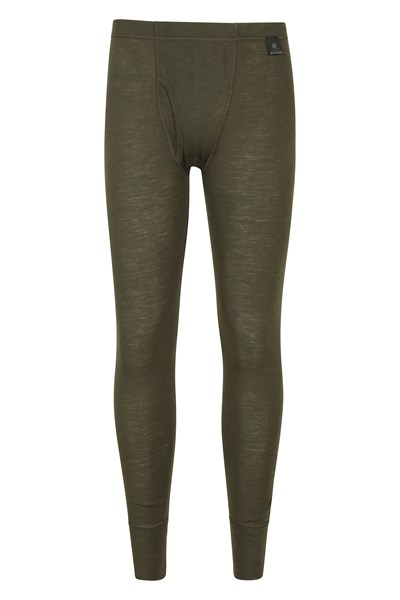 Mens Merino Pants With Fly - Green