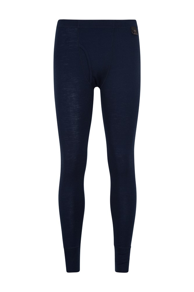 Mens Merino Pants With Fly - Navy
