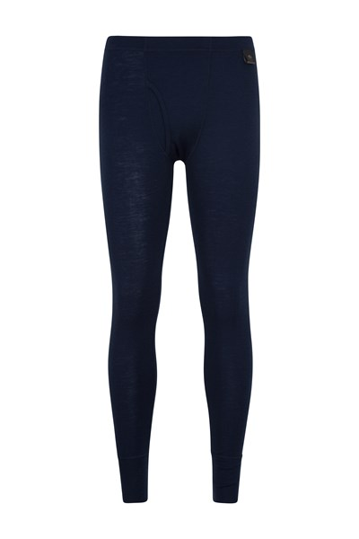Mens Merino Pants With Fly - Navy