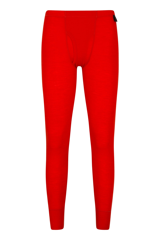 Mens Merino Pants With Fly - Orange
