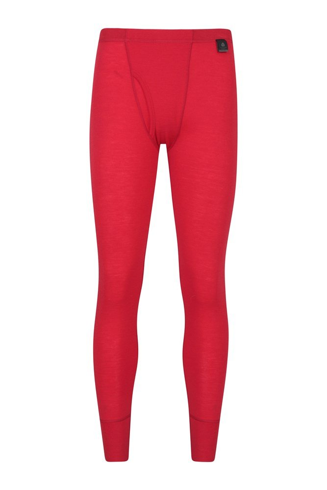 Mens Merino Pants With Fly - Red