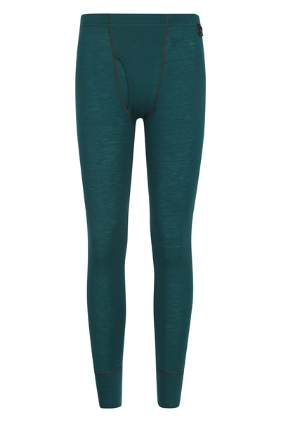 Mens Merino Pants With Fly - Teal