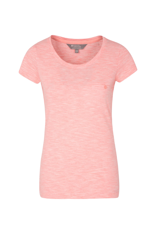 Thurlestone Striped Womens T-Shirt - Pink