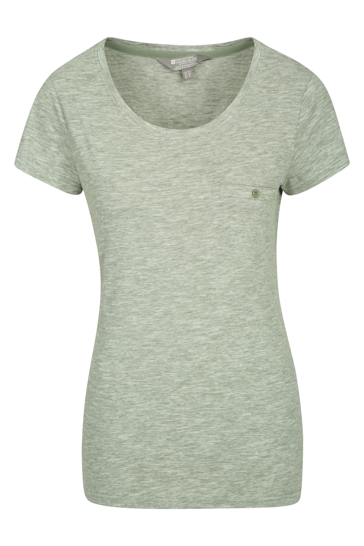 Thurtlestone gestreiftes Damen T-Shirt - Khaki