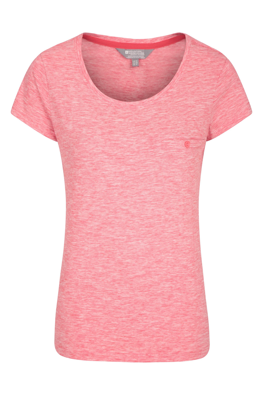 Thurtlestone gestreiftes Damen T-Shirt - Rot