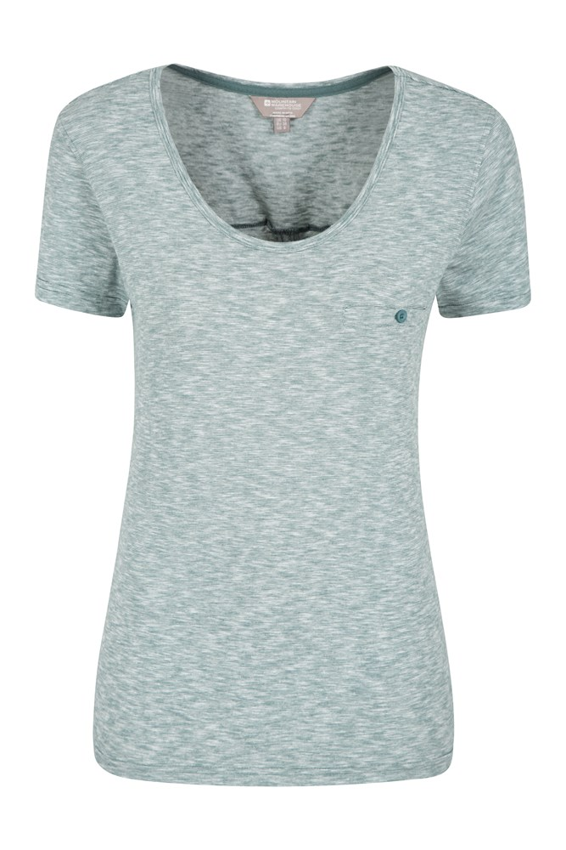 Thurlestone Striped Womens T-Shirt - Teal