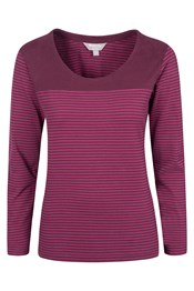 Salcombe Womens Striped Long Sleeved Top