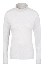 Verbiah Womens Polo Neck Cotton Top