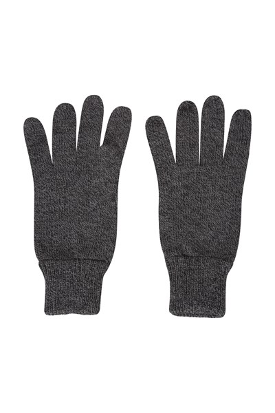 Compass Knitted Mens Gloves - Black