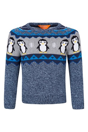 Penguin Knitted Kids Jumper