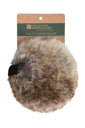 Faux Fur Foldable Earmuffs