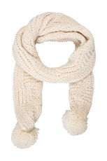Niki Pom Pom Womens Knitted Scarf