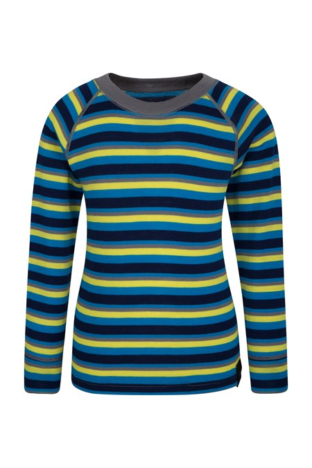 024636 MERINO KIDS STRIPE ROUND NECK TOP