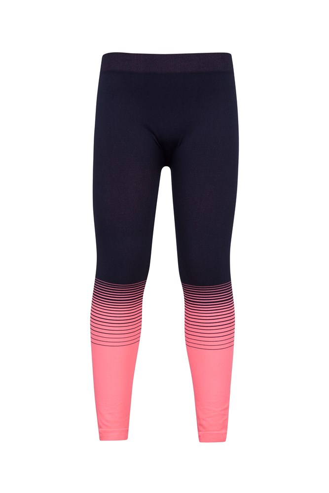 Seamless Kids Base Layer Thermal Pants - Pink