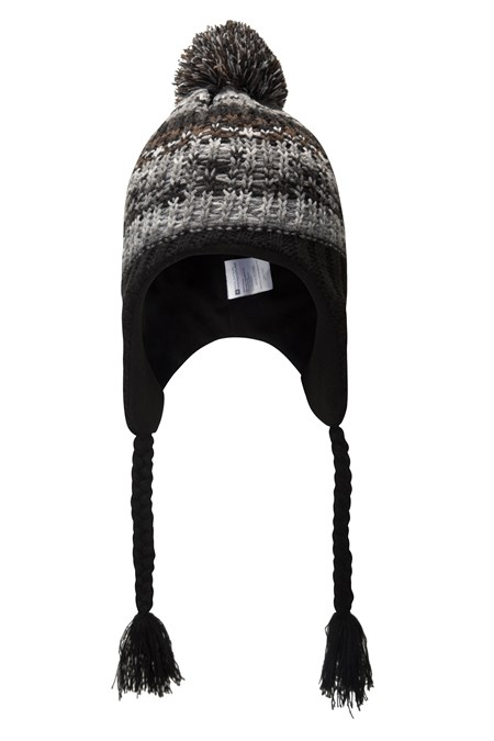 Warped Knitted Mens Trapper Hat