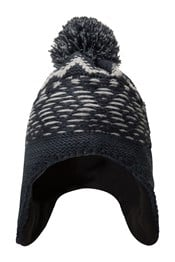 Wave Knitted Mens Trapper Hat