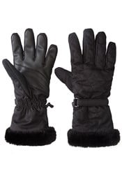Quilted Womens Ski Gloves