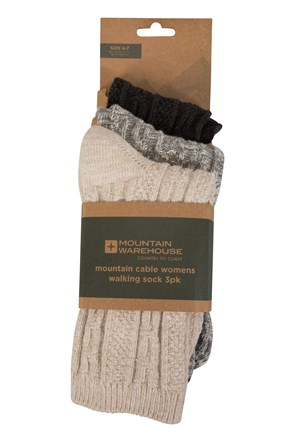 Mountain Cable Womens Socks - 3 Pk