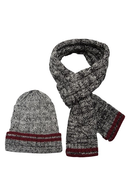 Children Hat and Scarf+Hats Set Winter for kids Thick Knit