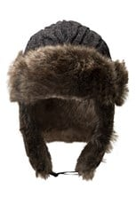 Cable Knitted Mens Deer Stalker Hat