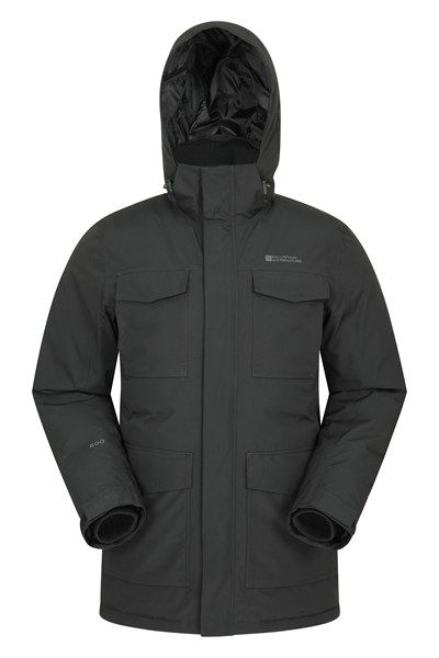 Concord Extreme Mens Down Long Jacket - Black