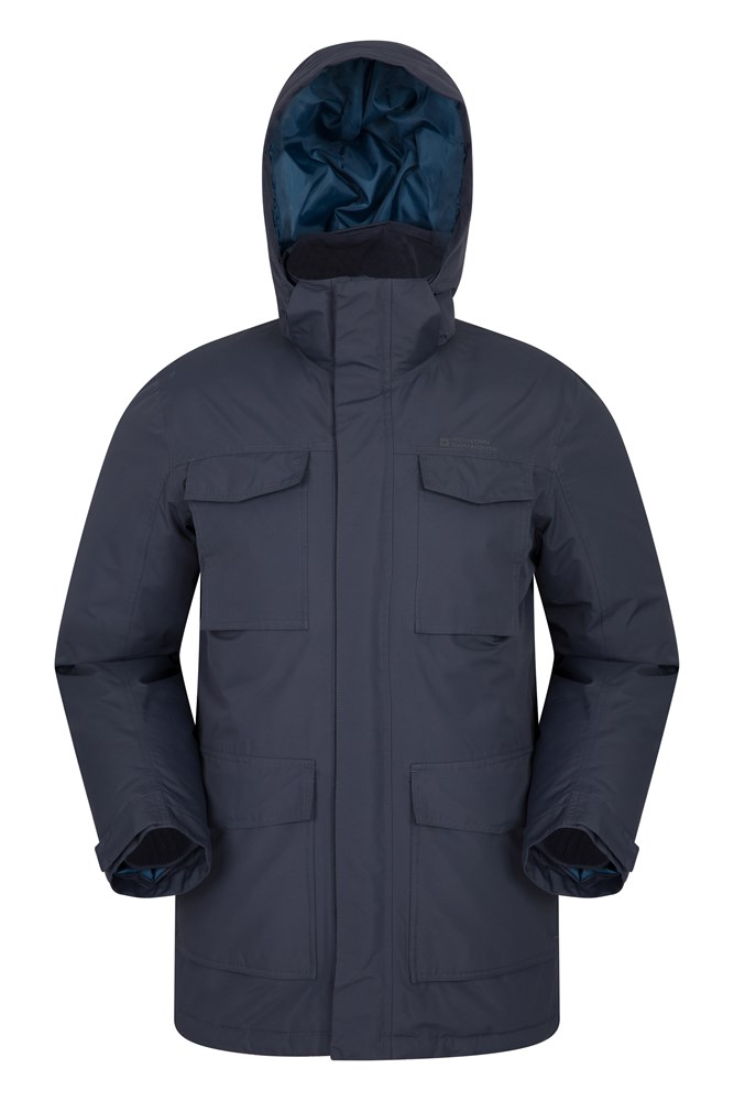 Concord Extreme Mens Down Long Jacket - Blue