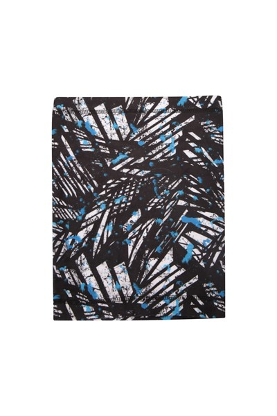 Printed Fleece Womens Neck Gaiter - Black