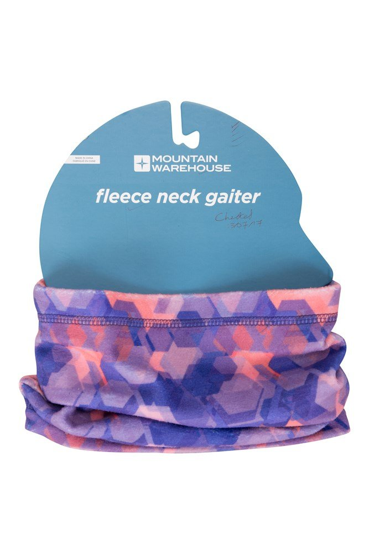 Printed Fleece Womens Neck Gaiter - Purple