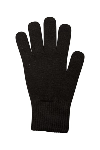 Grace Womens Knitted Gloves - Black