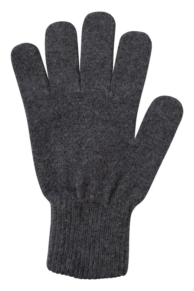 Grace Womens Knitted Gloves - Grey