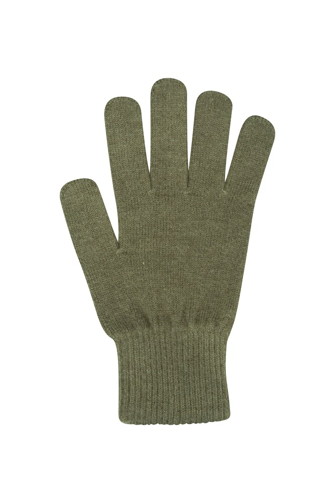 Grace Womens Knitted Gloves - Green