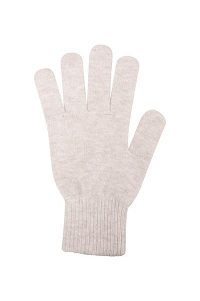 Grace Womens Knitted Gloves - Beige