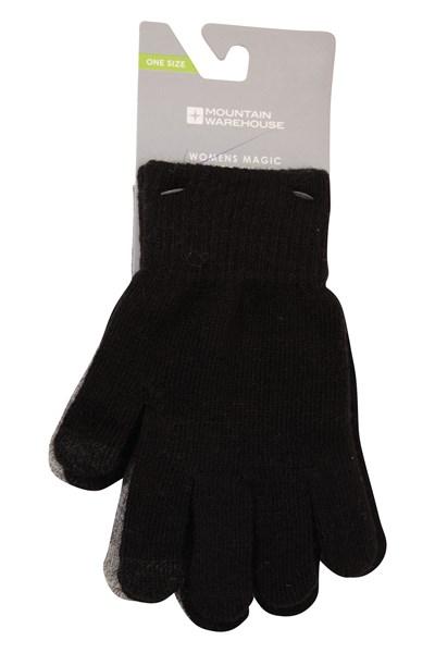Magic Touch Screen Womens Gloves - Black